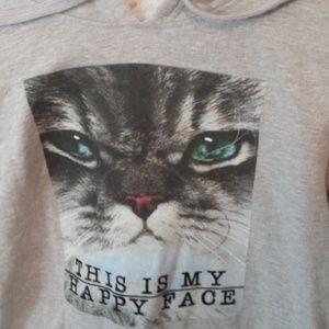 b0ef9494cc Forever 21 Tops - Gray Grey Forever 21 ASPCA Cat Hoodie